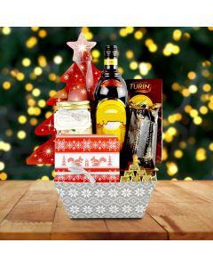 Tree & Treats Christmas Liquor Gift Basket