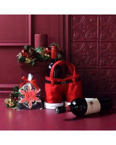 Merry & Bright Wine Gift Basket