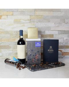 Chocolate Lover's Delight Gift Set with Wine