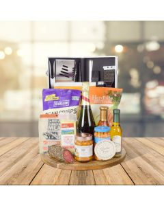Barbecue & Champagne Party Gift Basket