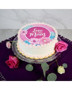 Love You Mom Raspberry & Vanilla Cake