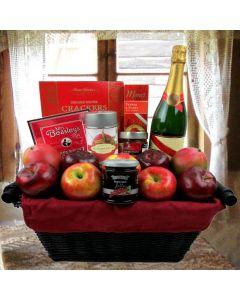 The Burgundy Champagne Gift Basket