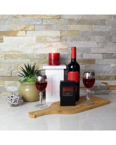 Wine & Chocolate for 2 Gift Basket