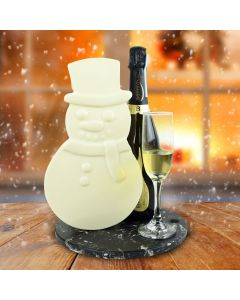 Frosty The White Chocolate Snowman Champagne Gift