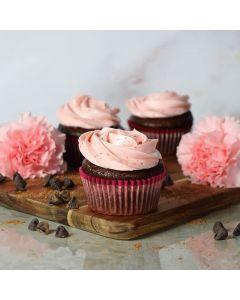 Chocolate & Strawberry Buttercream Cupcakes