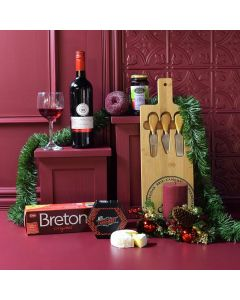Holiday Wine & Cheese Gift Basket