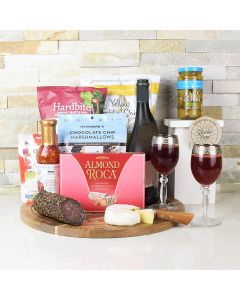 WARMHEARTED WISHES WITH WINE GIFT BASKET