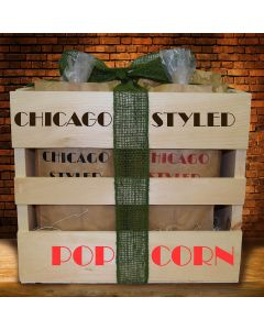 Chicago Styled Popcorn Crate