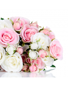 Bouquet of Pink & White Roses