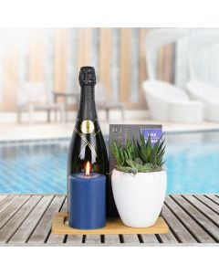 Sweet Serenity Champagne Gift Basket
