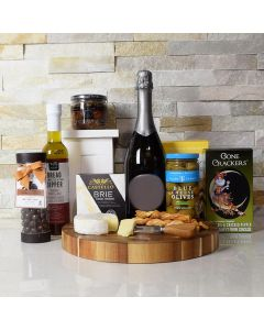 Relax & Snack Champagne Gift Basket