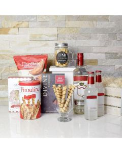Liquor and Snacks Gift Crate