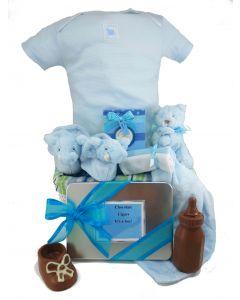 Chocolate Baby Boy Gift Basket