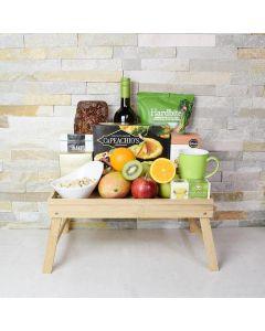 Assorted Fruit & Wine Gift Basket