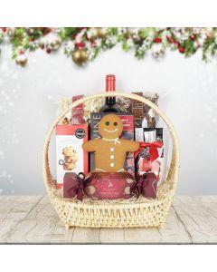 Christmas Wine Picnic Basket