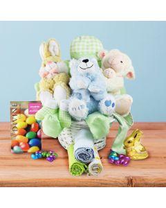 Hopping Baby Boy Gift Basket