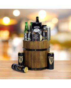 Barrel of Beer Gift Basket