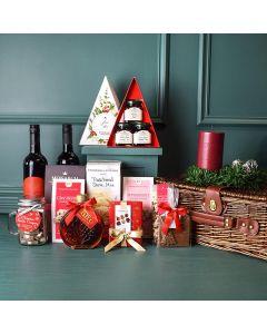 Christmas Sweets & Wine Duo Gift Basket