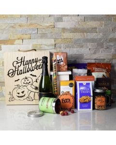 Halloween Spooktacular Gift Crate With Champagne