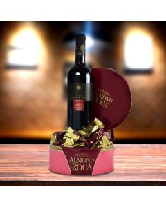 Almonds, Wine and Love Gift Basket