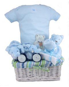 The Cuddles Baby Boy Gift Basket