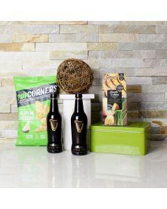 Simple Beer & Snacks Gift Basket