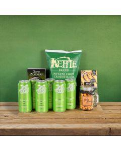 St. Patrick's Day Beer & Crunch Basket