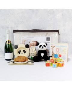 BABY'S TABLEWARE & PLAYSET WITH CHAMPAGNE