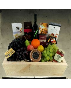 Fruit Abundance Wine Gift Basket