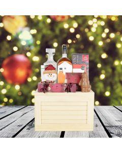 Deluxe Christmas Liquor Crate