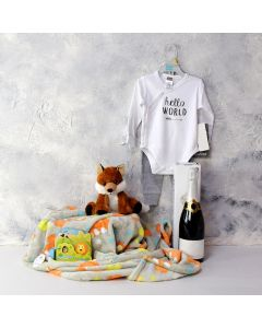 Baby Playtime Gift Set with Champagne