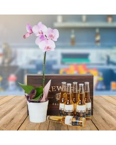 Cheery Orchid & Beer Gift