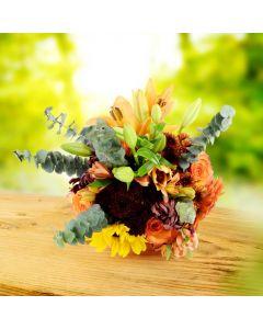 Fall Harvest Comfort Floral Arrangement