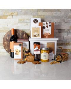 Thanksgiving Wine & Treats Gift Set