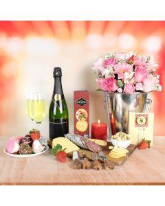 Strawberries & Champagne Valentine's Basket