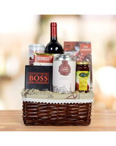 Chocolate & Wine Gift Basket