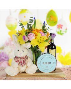 Easter Bouquet & Wine Basket
