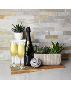 Welcome Home Champagne Gift Basket