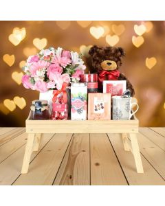 Breakfast in Bed Valentine's Day Gift Basket
