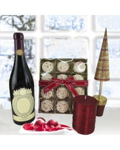 """Z Peppermint Cookies Gift Pack with Wine"