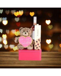 Be My Valentine Wine Basket