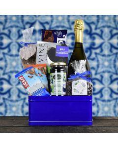 Bold In Blue Kosher Champagne Gift Basket