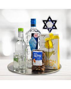 Hanukkah Liquor Lemon and Nuts Tray