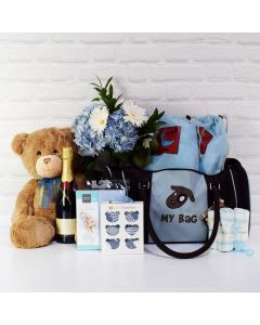 BABY BOY DELUXE TRAVEL BAG WITH CHAMPAGNE