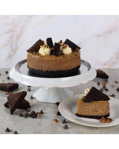 Caramel Pecan Fudge Cheesecake