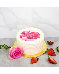 Happy Valentine's Day Vanilla Cake
