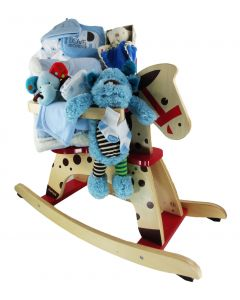 Little Boy Rocking Horse Gift Basket - Standard