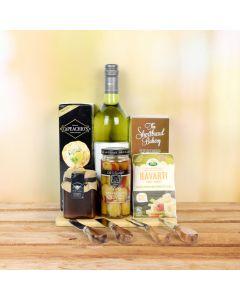 Kosher Wine & Cheese Snack Basket