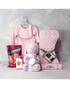 BABY GIRL'S FIRST GIFTS BASKET