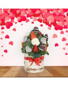 Chocolate Dipped Strawberries in Vase